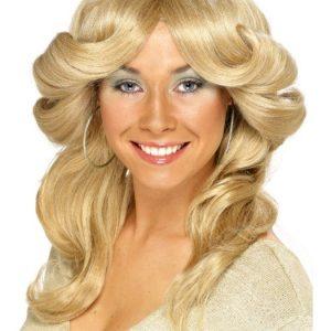 70 Luvun Peruukki Blondi