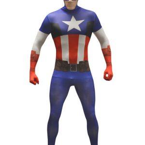 Captain America Morphsuit Naamiaisasu