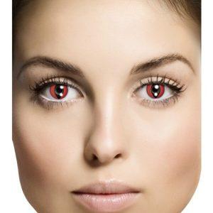 Cat Eye Red Kertakäyttölinssit