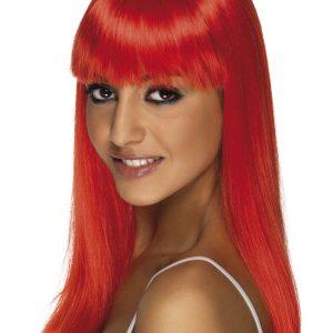 Glamourama Peruukki Punainen