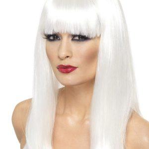 Glamourama Peruukki Valkoinen