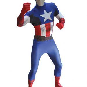 Kapteeni Amerikka Deluxe Morphsuit Naamiaisasu