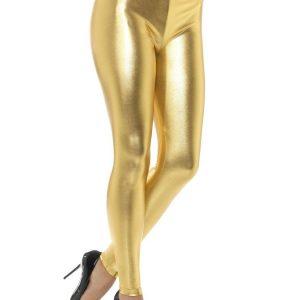 Kultaiset Metalliset Leggingsit