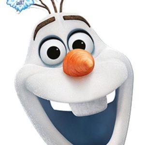 Pahvinaamari Frozen Olaf