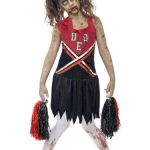 Zombie Cheerleader Naamiaisasu Lapset