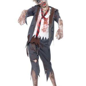Zombie Koulupoika Naamiaisasu Lapset