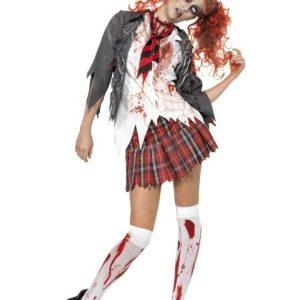 Zombie Koulutyttö Naamiaisasu