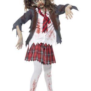 Zombie Koulutyttö Naamiaisasu Lapset